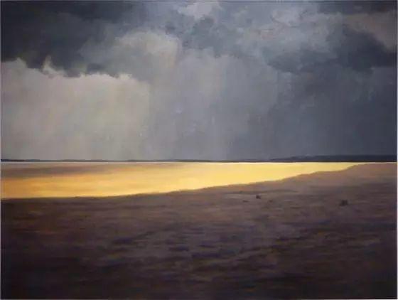 油画风景艺术,暴风雨来袭,美国画家April Gornik的风景画插图19