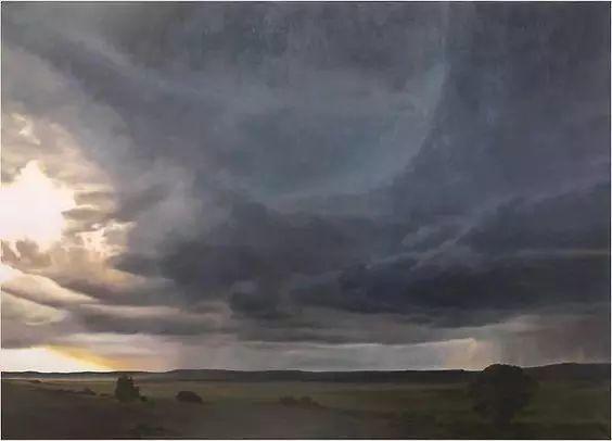 油画风景艺术,暴风雨来袭,美国画家April Gornik的风景画插图29
