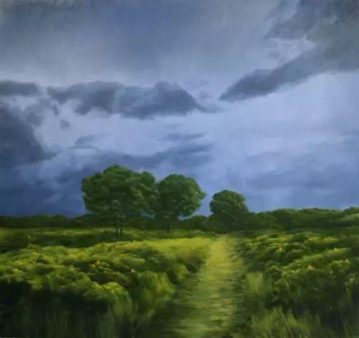 油画风景艺术,暴风雨来袭,美国画家April Gornik的风景画插图31