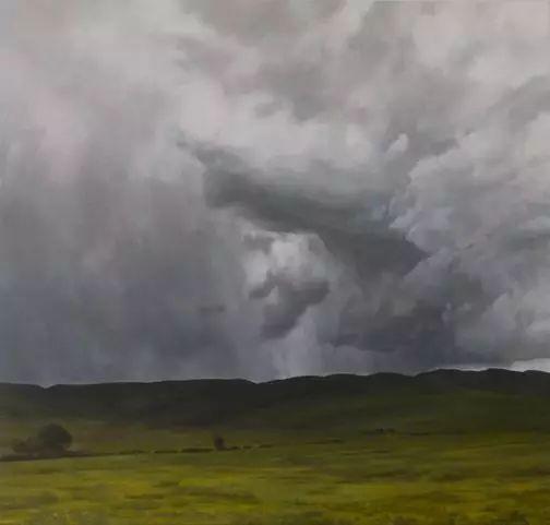 油画风景艺术,暴风雨来袭,美国画家April Gornik的风景画插图51