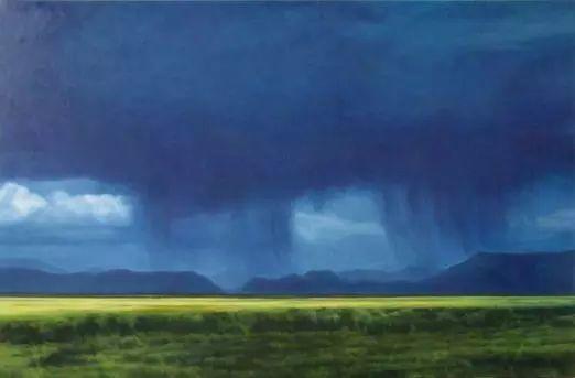 油画风景艺术,暴风雨来袭,美国画家April Gornik的风景画插图57