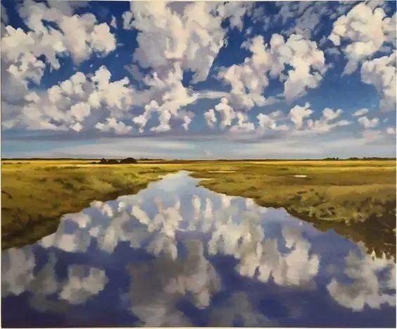 油画风景艺术,暴风雨来袭,美国画家April Gornik的风景画插图59