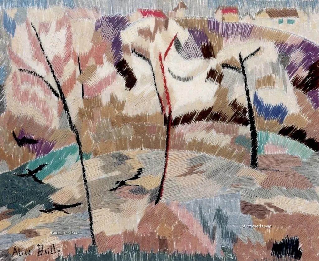 强烈的色彩和粗犷的线条,瑞士先锋派女画家艾丽丝·贝利!插图45