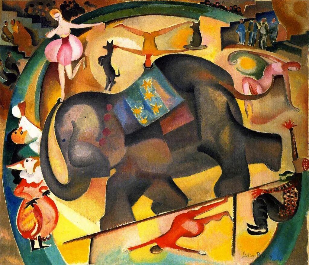 强烈的色彩和粗犷的线条,瑞士先锋派女画家艾丽丝·贝利!插图71