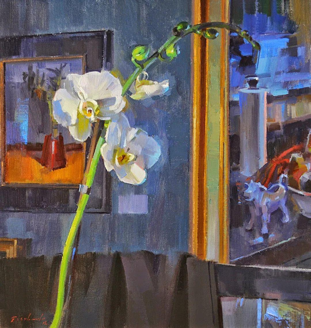 他是美国油画家协会大师级会员,两次获得金牌!插图9