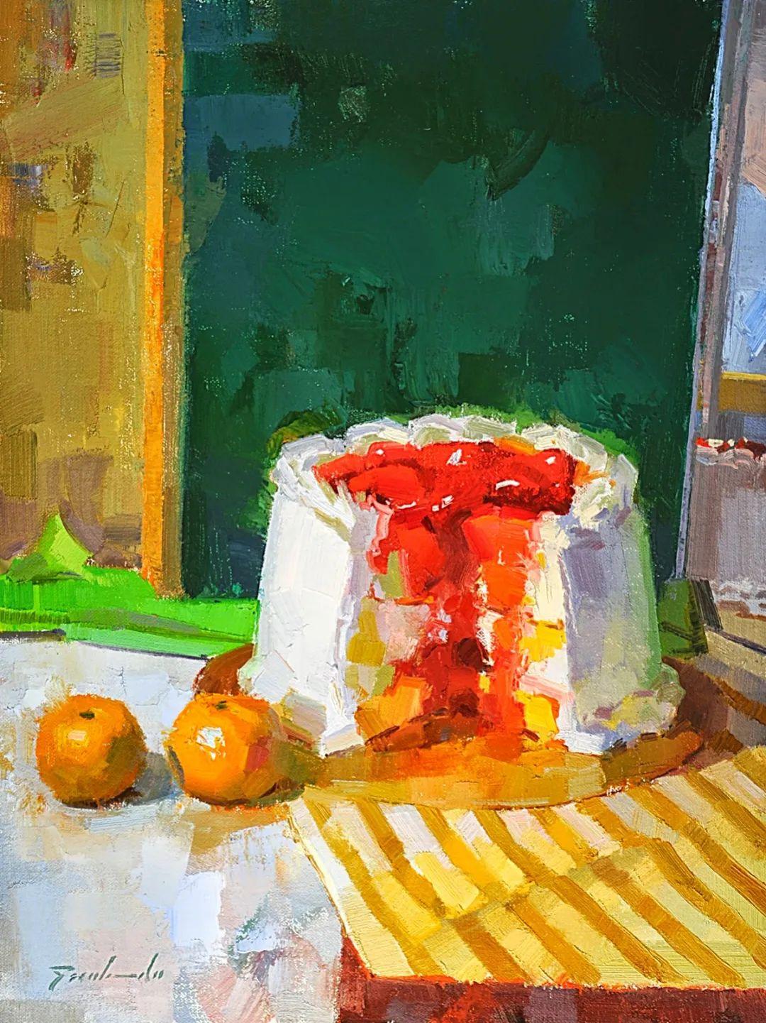 他是美国油画家协会大师级会员,两次获得金牌!插图35
