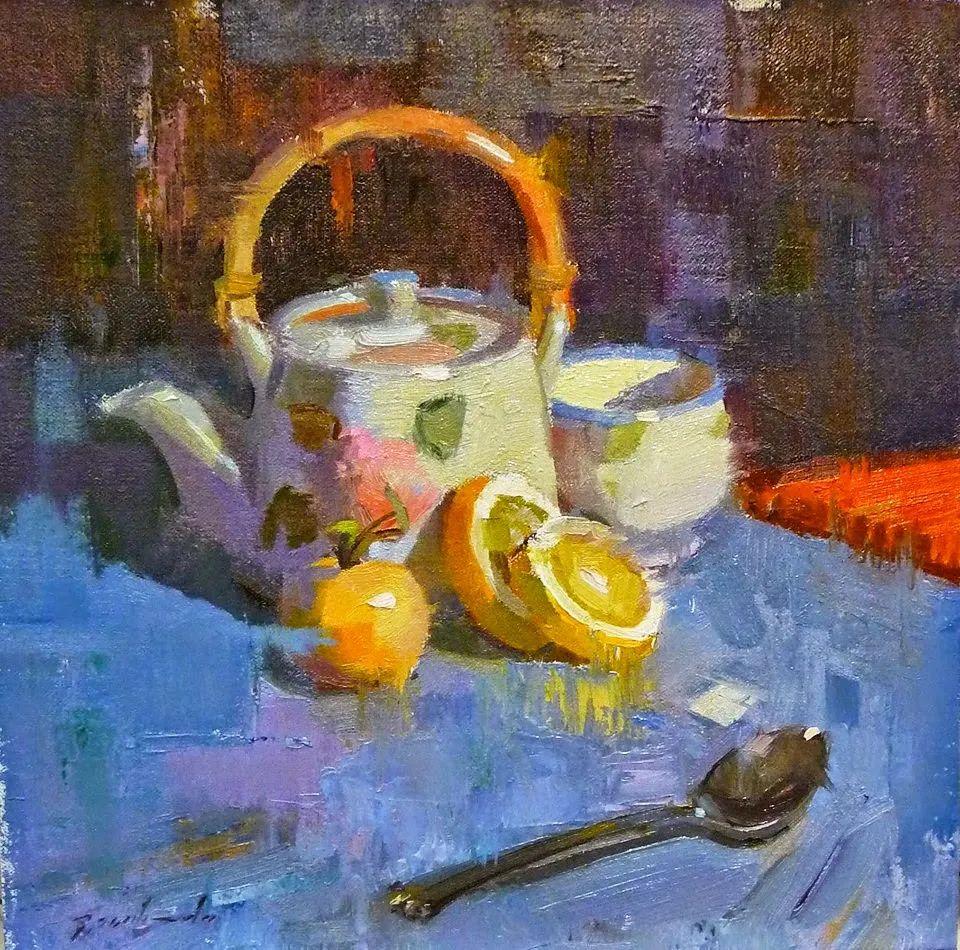 他是美国油画家协会大师级会员,两次获得金牌!插图41