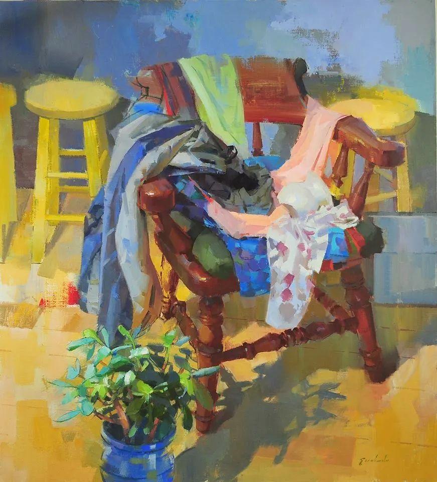 他是美国油画家协会大师级会员,两次获得金牌!插图47
