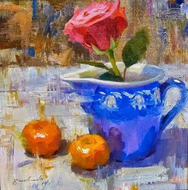 他是美国油画家协会大师级会员,两次获得金牌!插图55