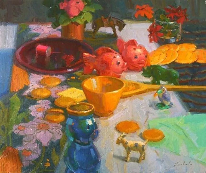 他是美国油画家协会大师级会员,两次获得金牌!插图67