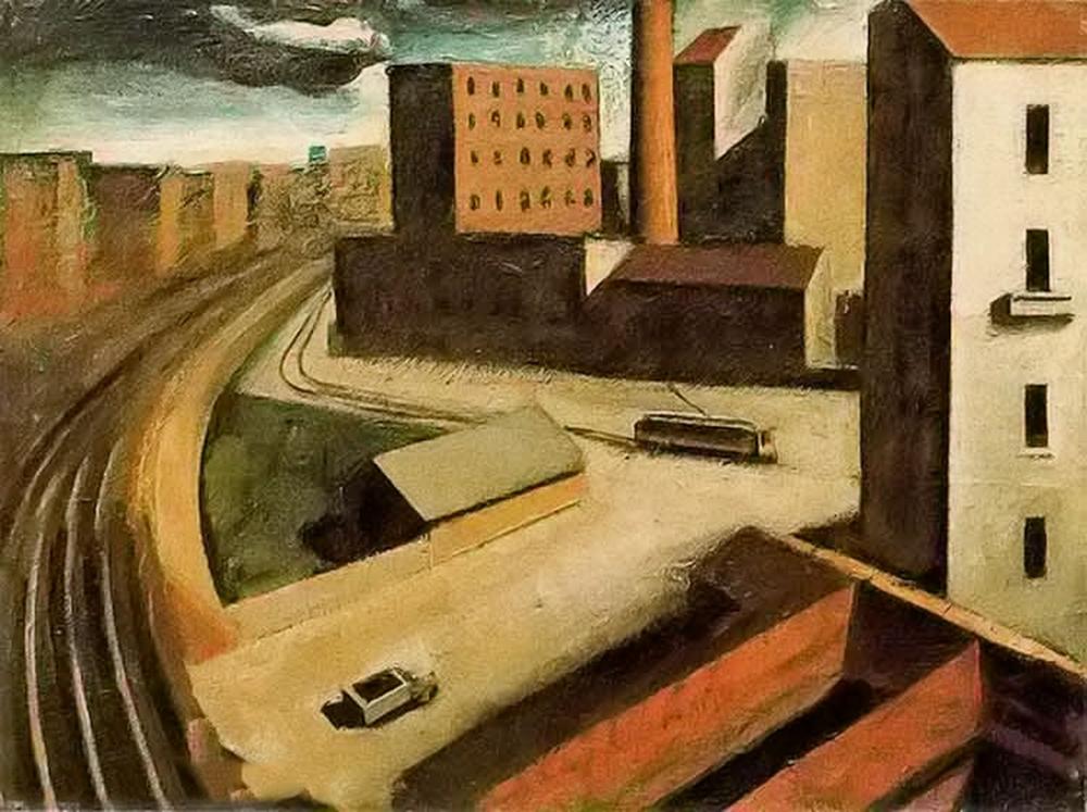 立体与未来主义的忧郁 | 意大利艺术家 Mario Sironi 绘画作品插图3