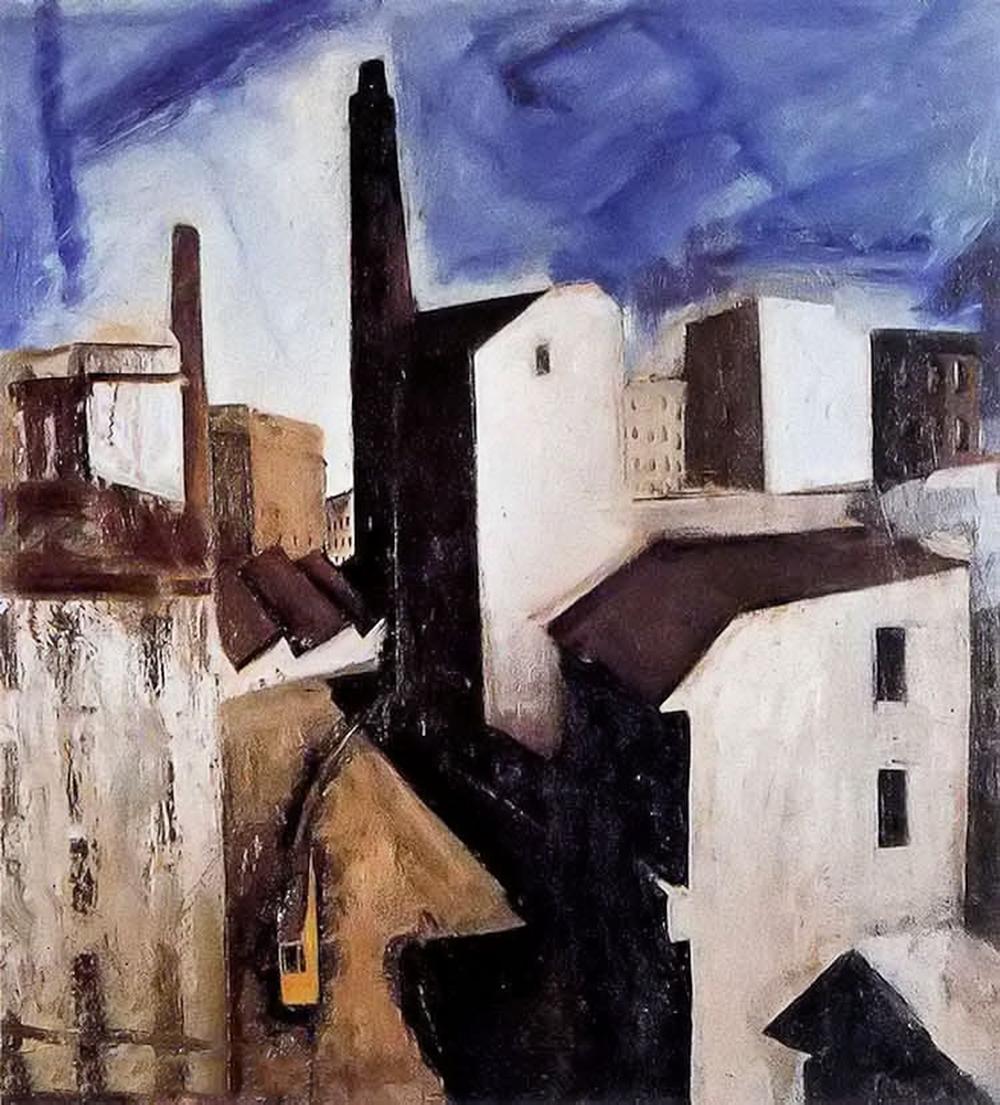 立体与未来主义的忧郁 | 意大利艺术家 Mario Sironi 绘画作品插图7