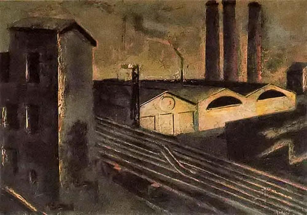 立体与未来主义的忧郁 | 意大利艺术家 Mario Sironi 绘画作品插图13