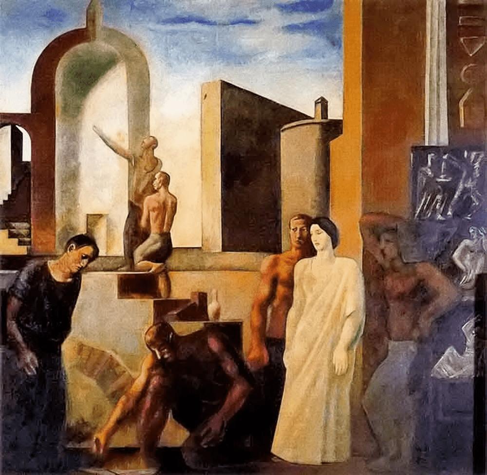 立体与未来主义的忧郁 | 意大利艺术家 Mario Sironi 绘画作品插图17
