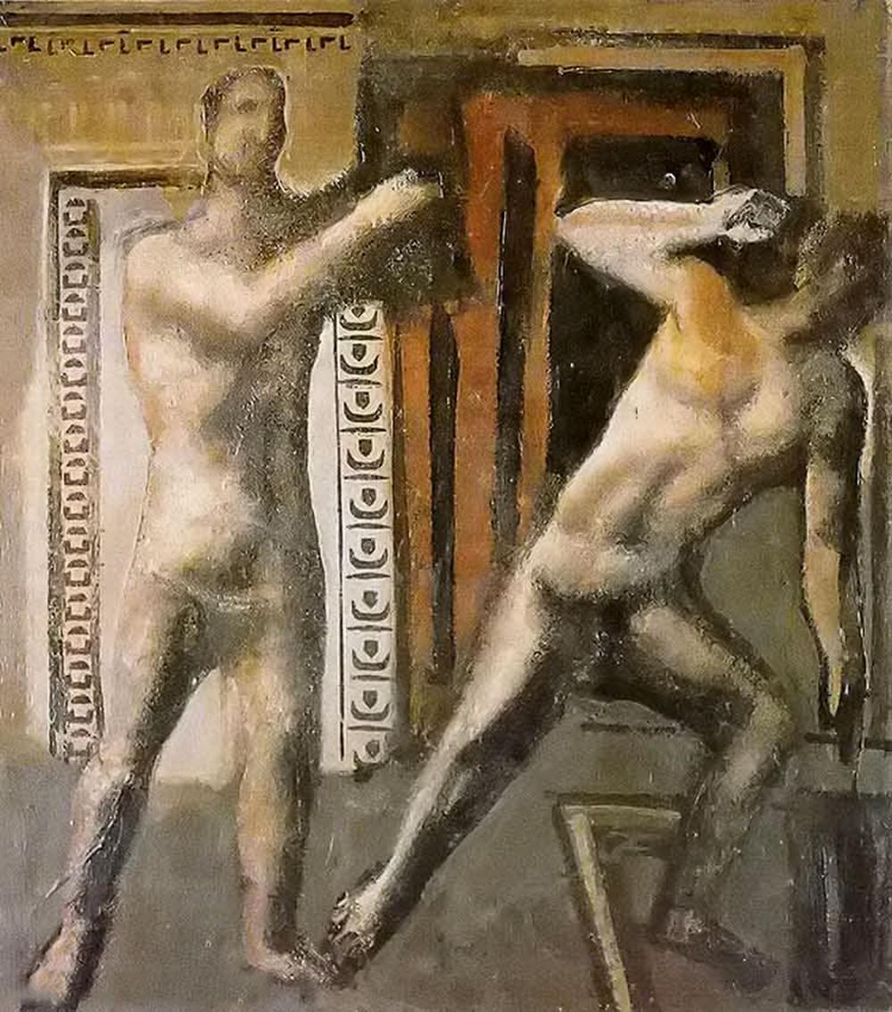 立体与未来主义的忧郁 | 意大利艺术家 Mario Sironi 绘画作品插图19