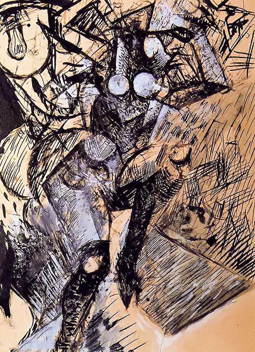 立体与未来主义的忧郁 | 意大利艺术家 Mario Sironi 绘画作品插图29