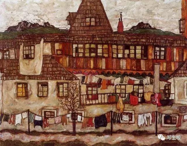 生命的疲惫与流逝——席勒笔下的房子插图3