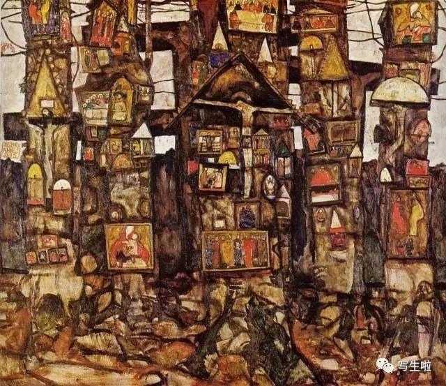 生命的疲惫与流逝——席勒笔下的房子插图15