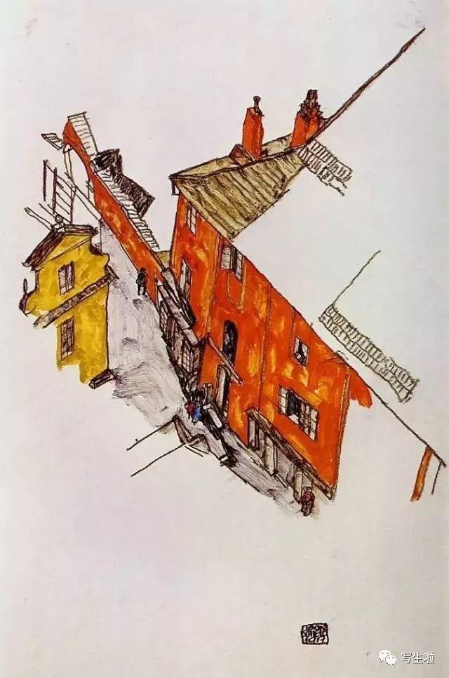 生命的疲惫与流逝——席勒笔下的房子插图23