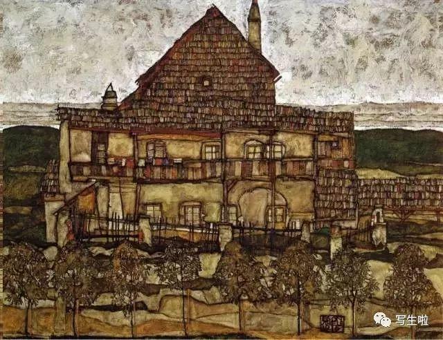 生命的疲惫与流逝——席勒笔下的房子插图33