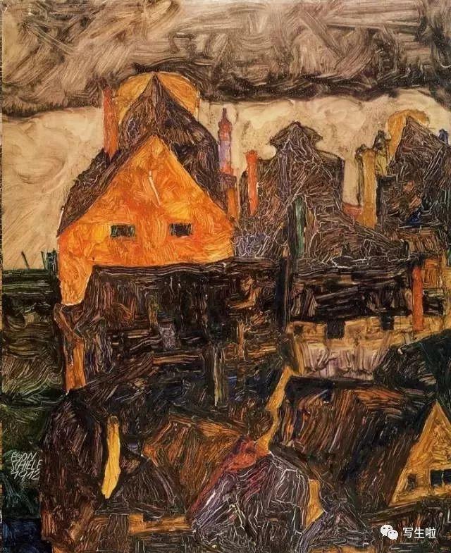 生命的疲惫与流逝——席勒笔下的房子插图35