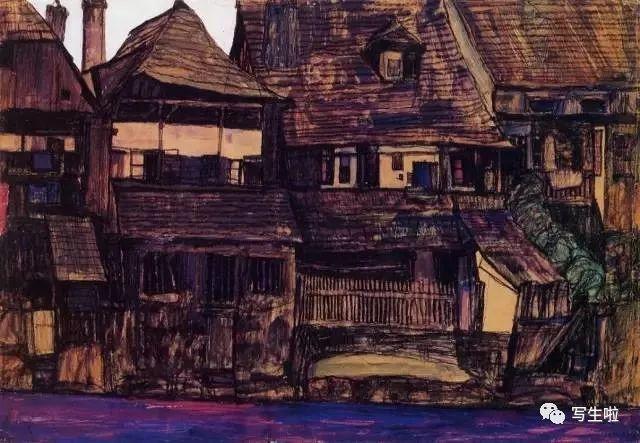 生命的疲惫与流逝——席勒笔下的房子插图45