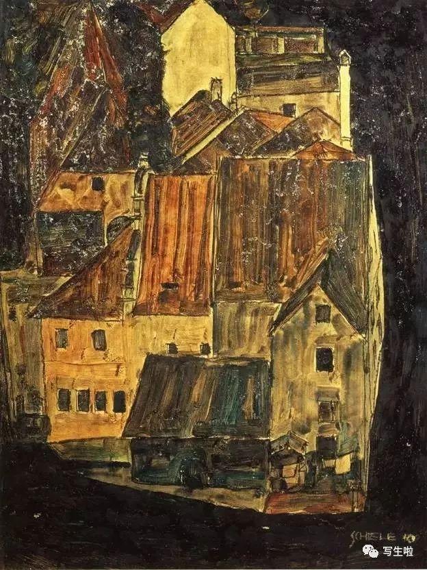 生命的疲惫与流逝——席勒笔下的房子插图47
