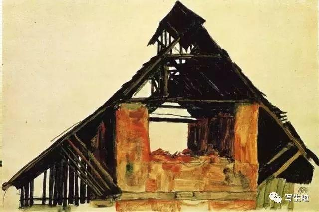 生命的疲惫与流逝——席勒笔下的房子插图77