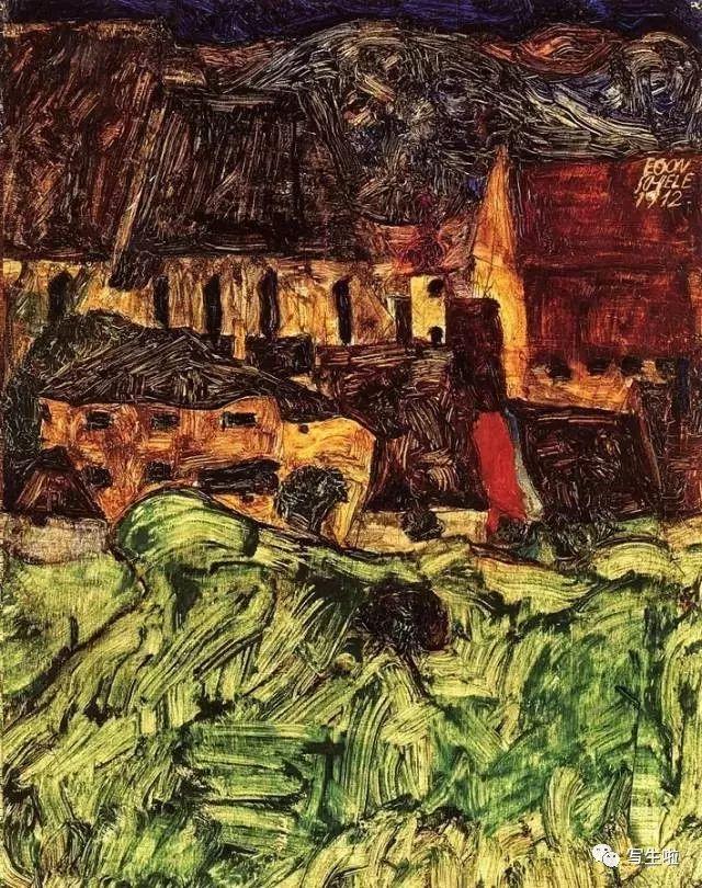 生命的疲惫与流逝——席勒笔下的房子插图79