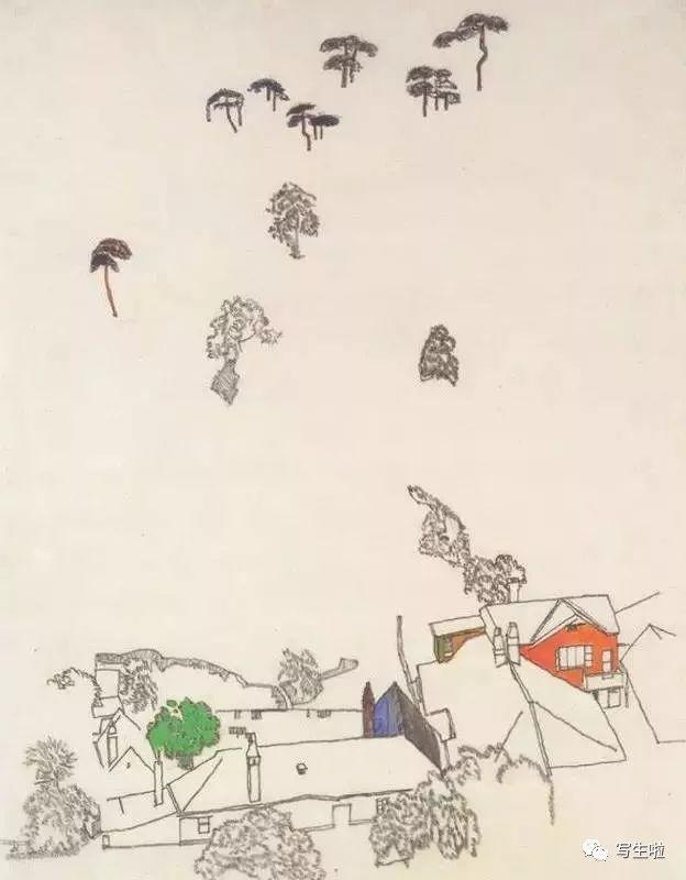 生命的疲惫与流逝——席勒笔下的房子插图85