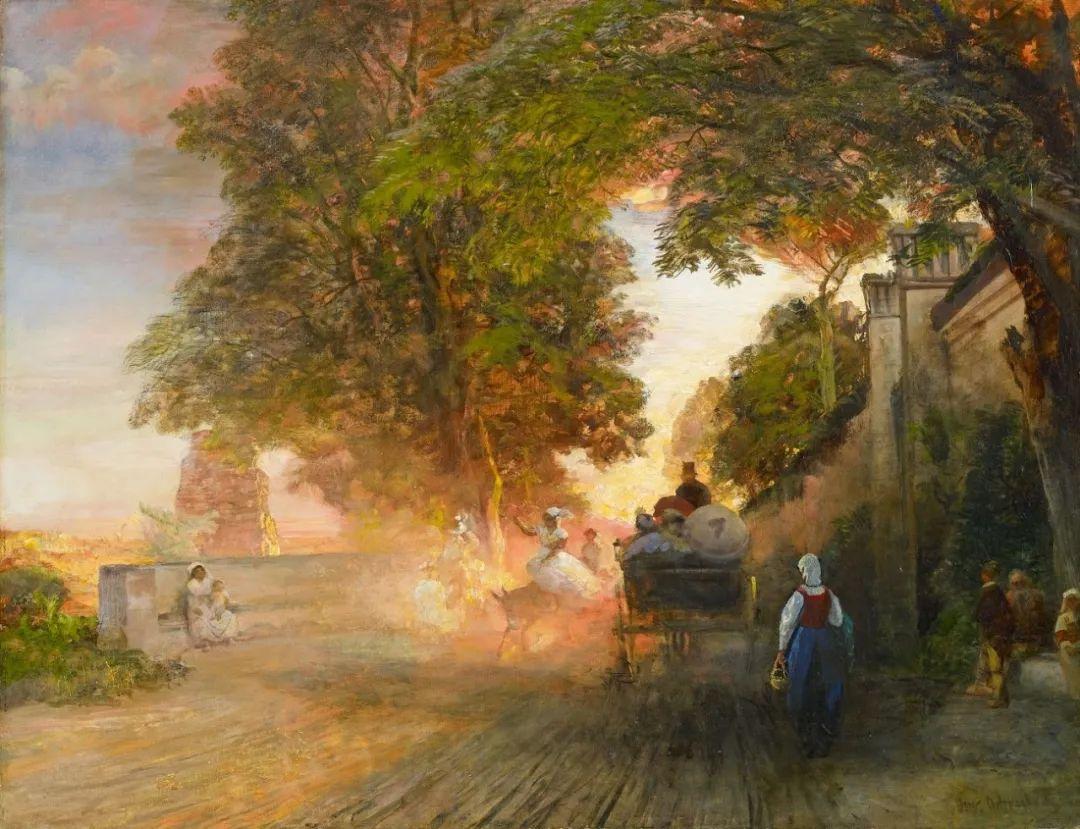 恢弘壮丽   奥斯瓦尔德·阿肯巴赫风景作品欣赏插图17