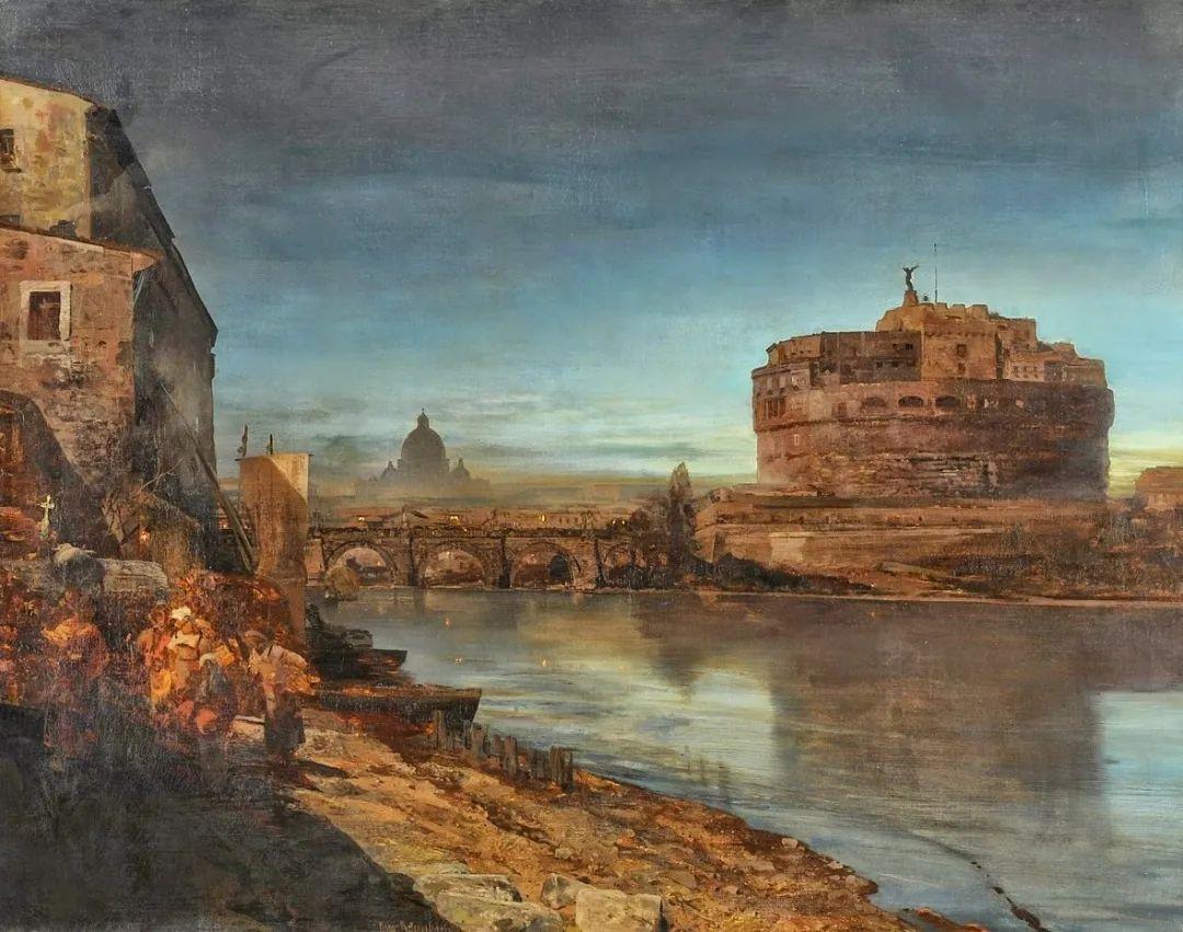 恢弘壮丽   奥斯瓦尔德·阿肯巴赫风景作品欣赏插图49