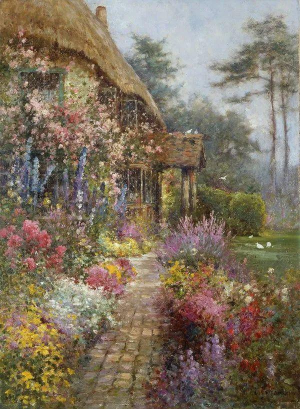 色彩斑斓的花园风景画插图3