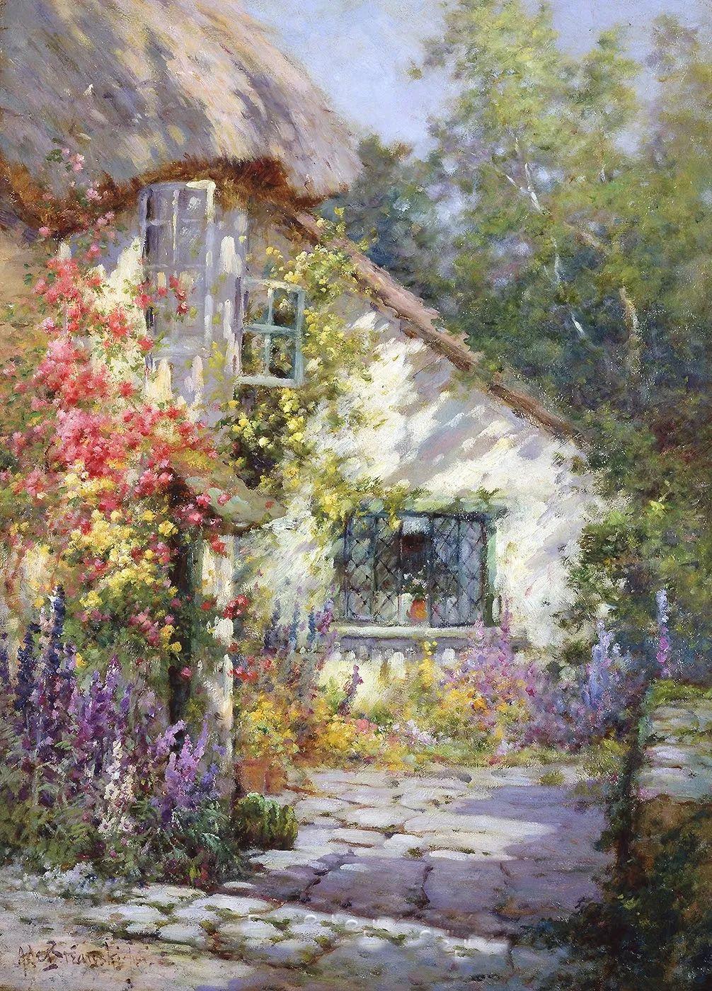 色彩斑斓的花园风景画插图5
