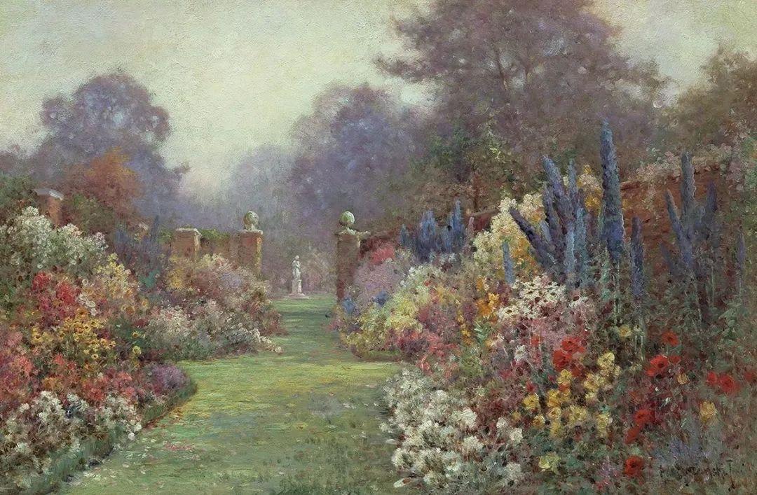 色彩斑斓的花园风景画插图7