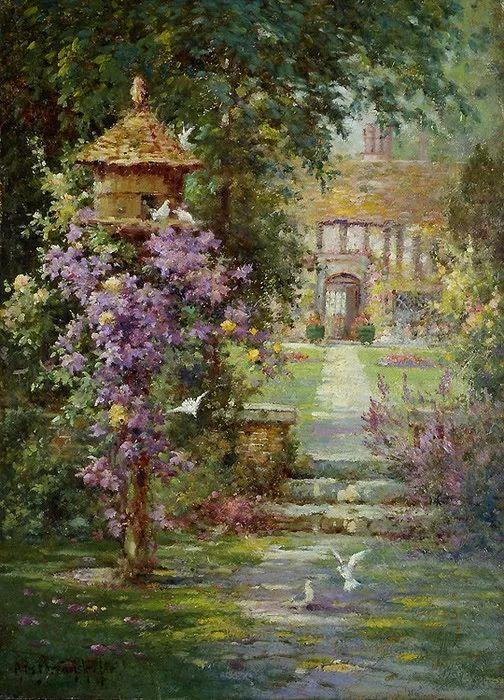 色彩斑斓的花园风景画插图29