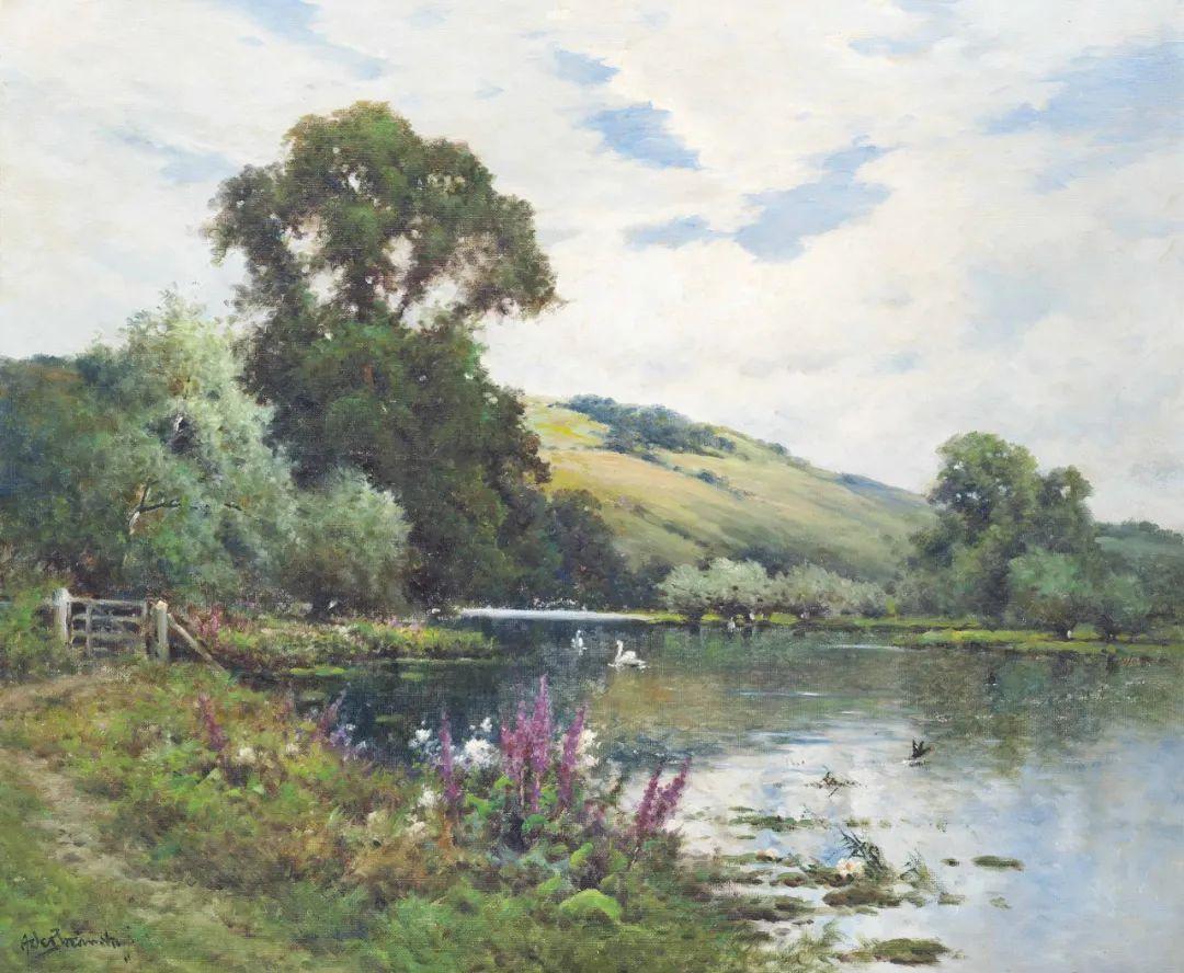 色彩斑斓的花园风景画插图35
