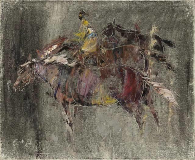 他是吴冠中眼中画的最好的画家,他是一代宗师,太极高手——草原画家妥木斯插图107