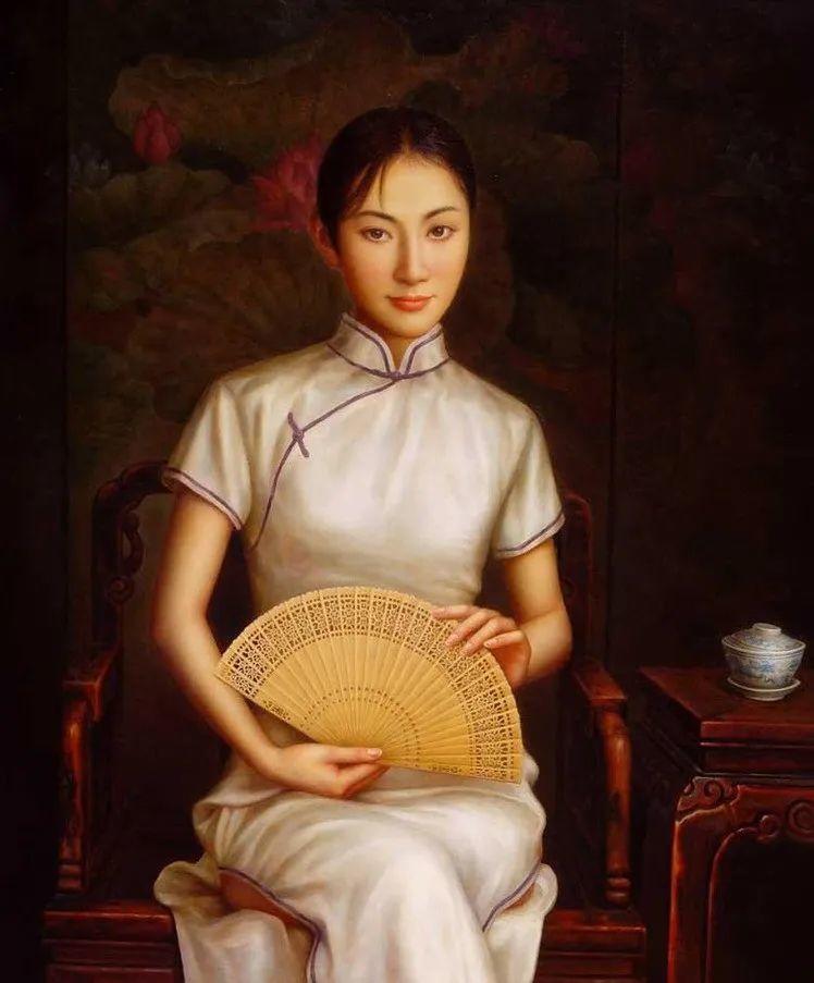 优雅柔美的东方女子,著名艺术家姜迎久的油画艺术作品赏析插图3