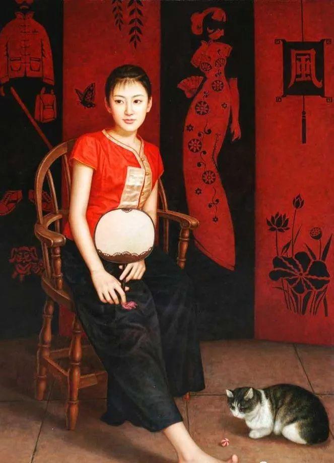 优雅柔美的东方女子,著名艺术家姜迎久的油画艺术作品赏析插图9