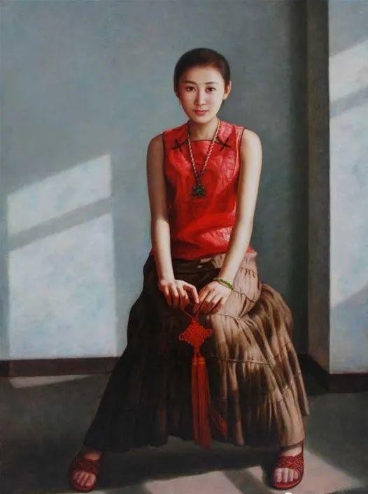 优雅柔美的东方女子,著名艺术家姜迎久的油画艺术作品赏析插图13
