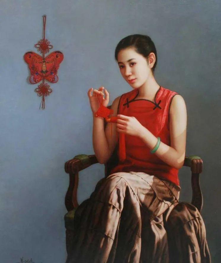 优雅柔美的东方女子,著名艺术家姜迎久的油画艺术作品赏析插图15