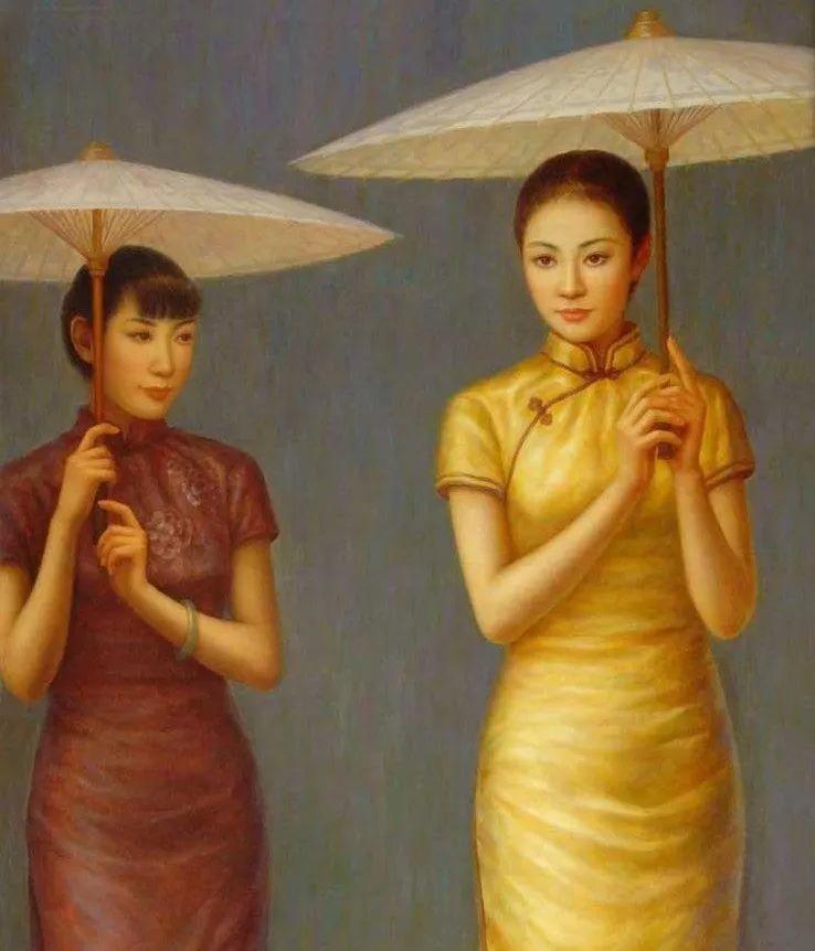 优雅柔美的东方女子,著名艺术家姜迎久的油画艺术作品赏析插图19