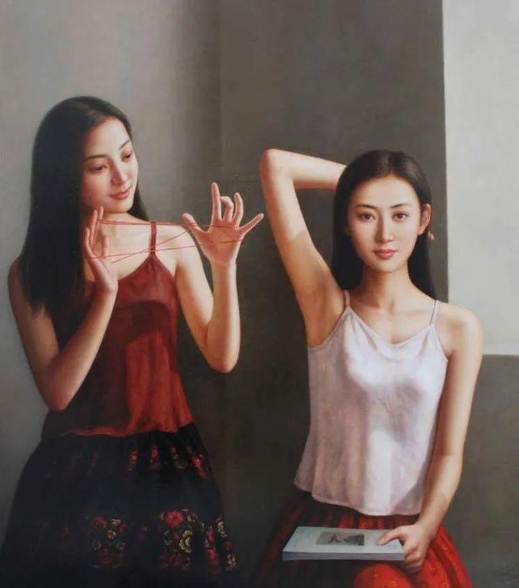 优雅柔美的东方女子,著名艺术家姜迎久的油画艺术作品赏析插图23
