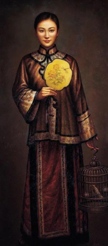 优雅柔美的东方女子,著名艺术家姜迎久的油画艺术作品赏析插图25