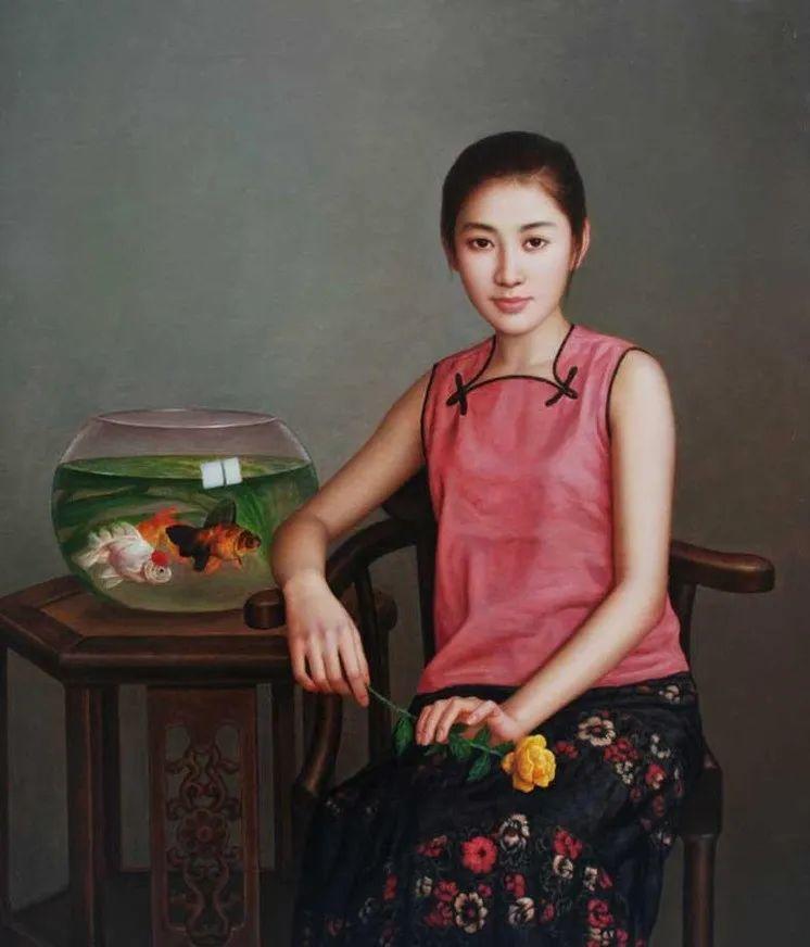 优雅柔美的东方女子,著名艺术家姜迎久的油画艺术作品赏析插图33