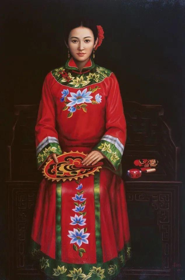优雅柔美的东方女子,著名艺术家姜迎久的油画艺术作品赏析插图35