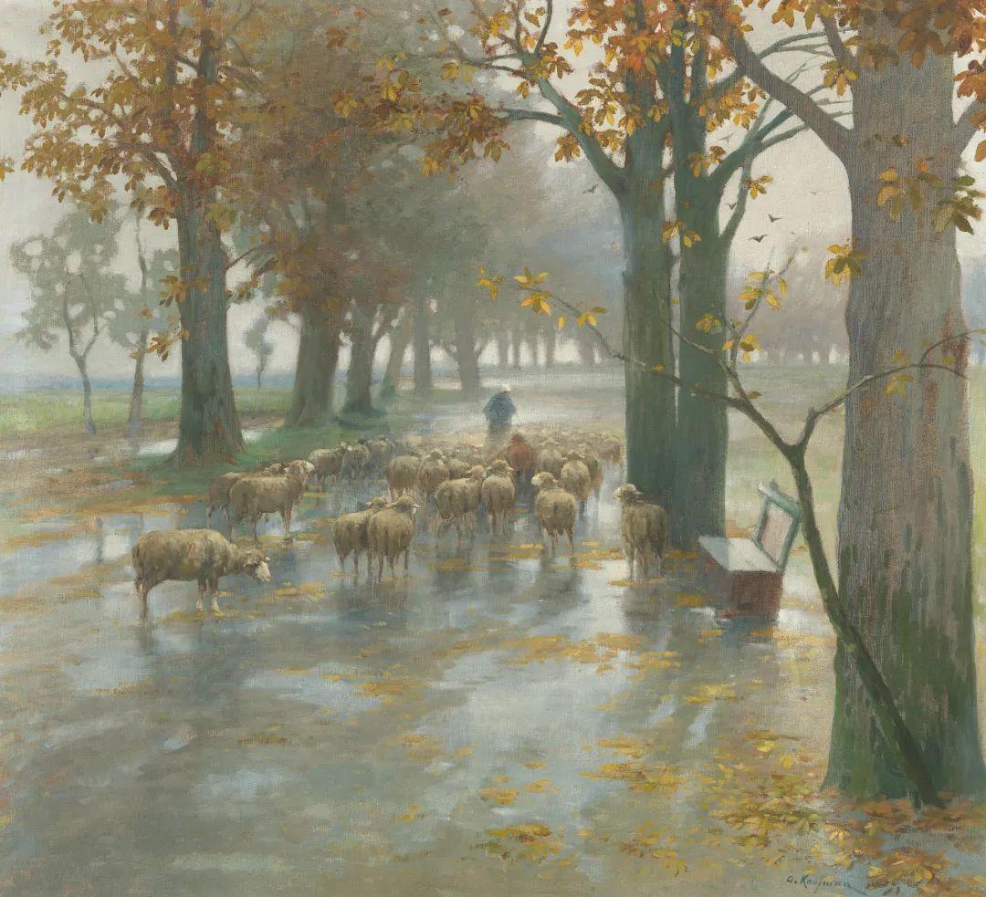 风景油画丨奥地利画家阿道夫·考夫曼的精美风景画插图3