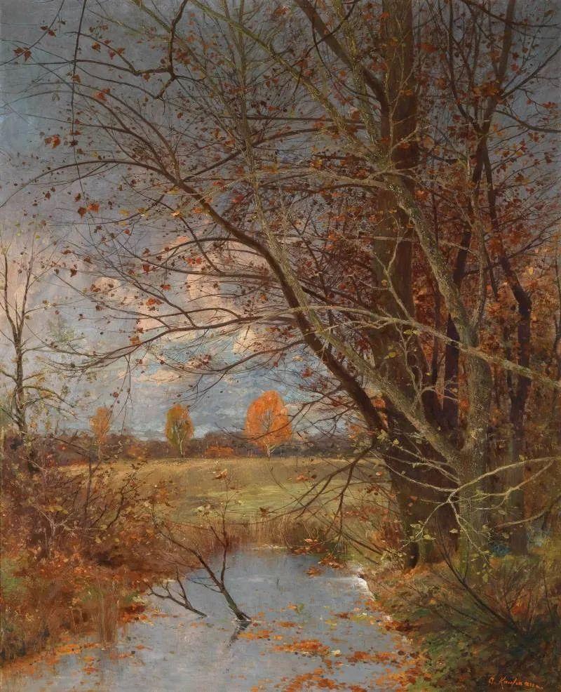 风景油画丨奥地利画家阿道夫·考夫曼的精美风景画插图7