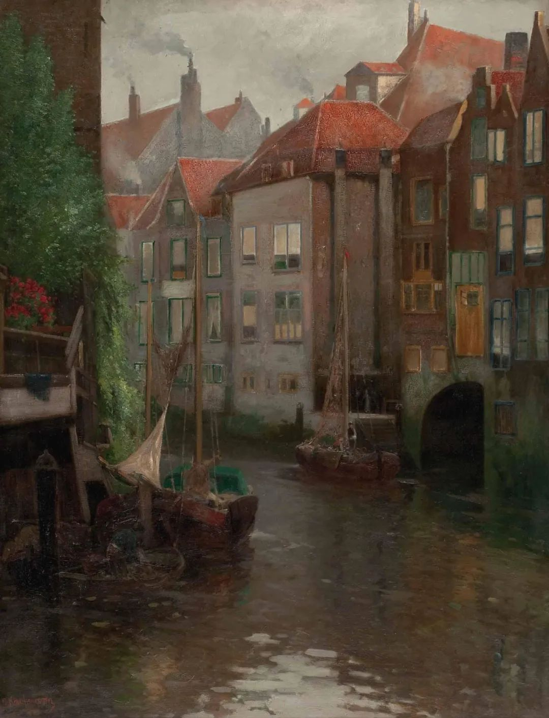风景油画丨奥地利画家阿道夫·考夫曼的精美风景画插图11